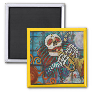 Day Of The Dead Square Magnet