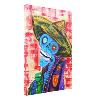 Day Of The Dead Stretched Canvas Print