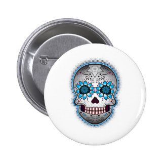 Day Of The Dead Sugar Skull 6 Cm Round Badge