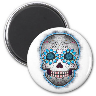 Day Of The Dead Sugar Skull 6 Cm Round Magnet