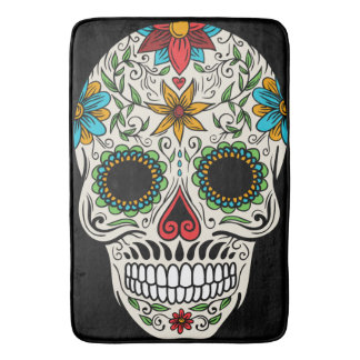 Day of the Dead Sugar Skull Bath Mat