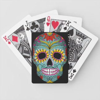 Day of the Dead Sugar Skull Bicycle Playing Cards