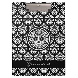 Day of the dead | Sugar skull black and white Clipboards