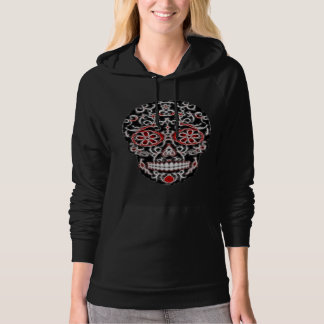 Day of the Dead Sugar Skull - Black, White & Red Sweatshirt