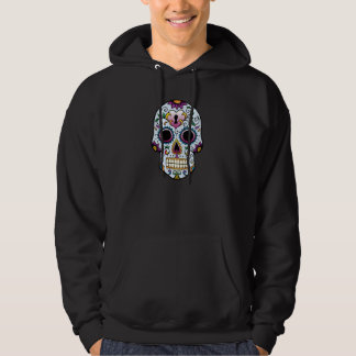 Day of the Dead Sugar Skull Blue Hoodie