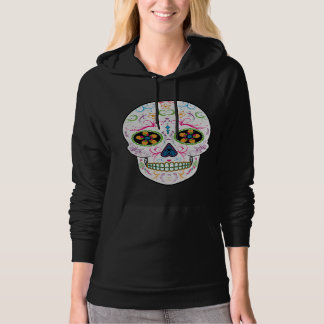 Day of the Dead Sugar Skull - Bright Multi Color Hoodie