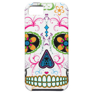 Day of the Dead Sugar Skull - Bright Multi Color iPhone 5 Covers