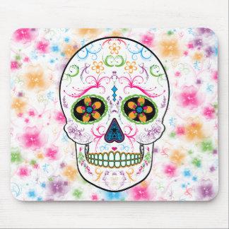 Day of the Dead Sugar Skull - Bright Multi Color Mouse Mat