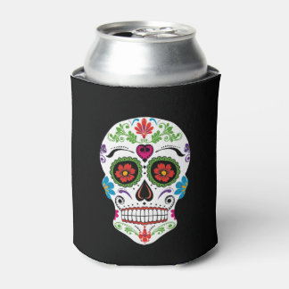 DAY OF THE DEAD SUGAR SKULL CAN COOLER