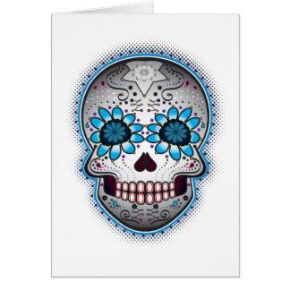 Day Of The Dead Sugar Skull Card