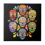 Day of the Dead Sugar Skull Ceramic Tile