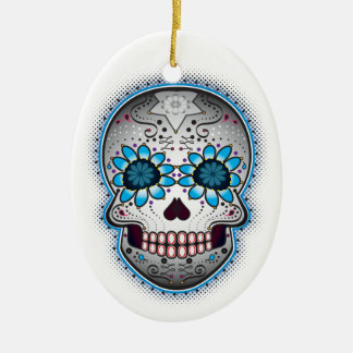 Day Of The Dead Sugar Skull Christmas Ornament