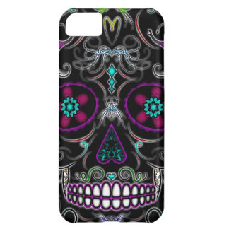 Day of the Dead Sugar Skull - Colorfully Black iPhone 5C Case
