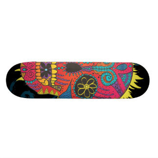 Day of The Dead Sugar Skull Comic Tattoo Design Skate Decks