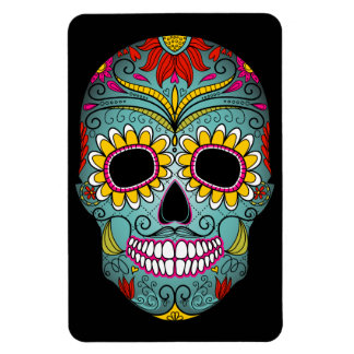 Day of the Dead Sugar Skull Rectangular Photo Magnet
