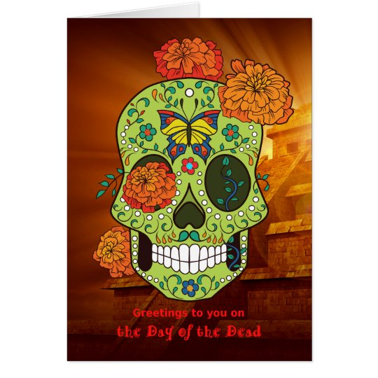 Day of the Dead Sugar Skull & Flowers