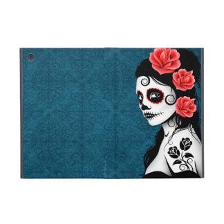 Day of the Dead Sugar Skull Girl - blue iPad Mini Cases