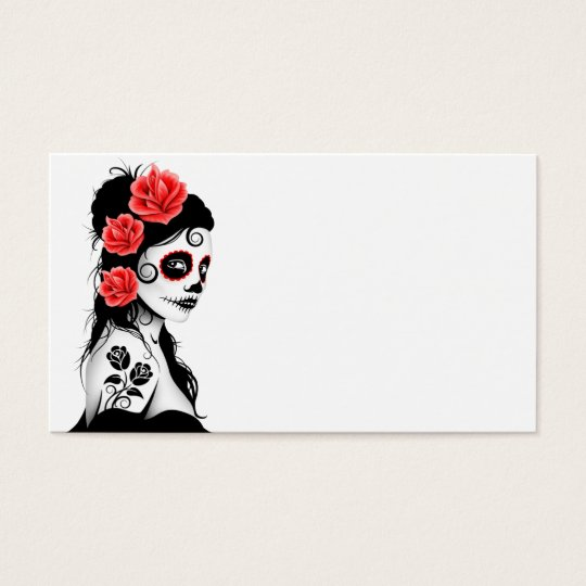 Day of the Dead Sugar Skull Girl Business