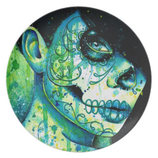 Day of the Dead Sugar Skull Girl: Do You Remember Plate