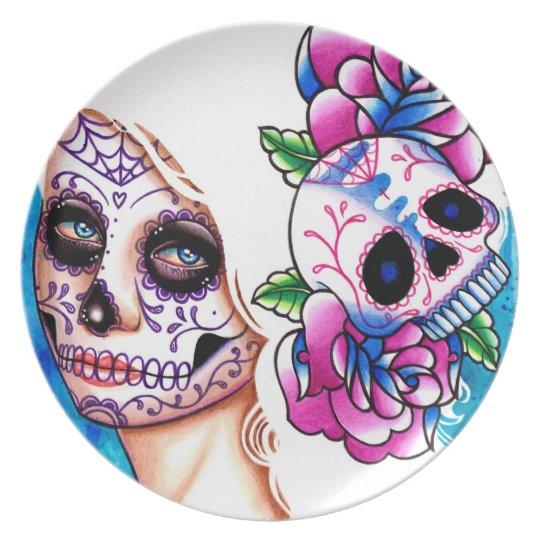 Day of the Dead Sugar Skull Girl: Empty