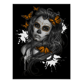 Day of the Dead Sugar Skull Girl Poster