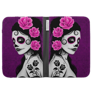 Day of the Dead Sugar Skull Girl - purple Case For Kindle
