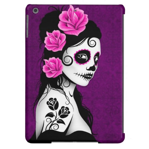 Day of the Dead Sugar Skull Girl - Purple Case For iPad Air