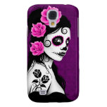 Day of the Dead Sugar Skull Girl - purple Samsung Galaxy S4 Covers