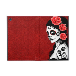 Day of the Dead Sugar Skull Girl - red Case For iPad Mini