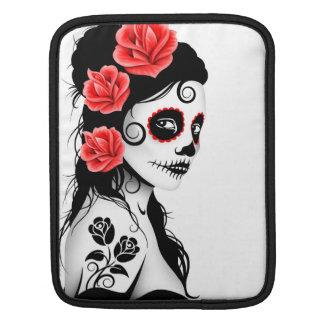 Day of the Dead Sugar Skull Girl - white iPad Sleeve