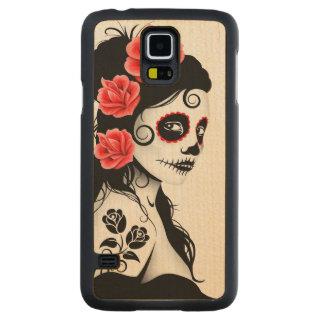 Day of the Dead Sugar Skull Girl – White Maple Galaxy S5 Slim Case