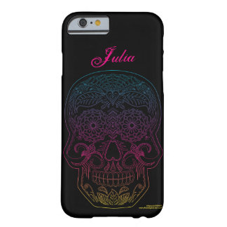 Day of the Dead Sugar Skull Halloween Art Rainbow Barely There iPhone 6 Case