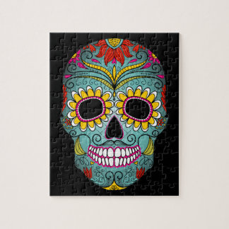 Day of the Dead Sugar Skull Jigsaw Puzzle