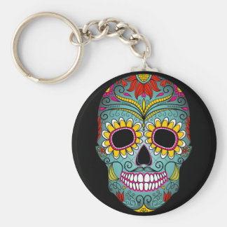 Day of the Dead Sugar Skull Key Ring
