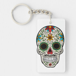 Day of the Dead Sugar Skull Keychain