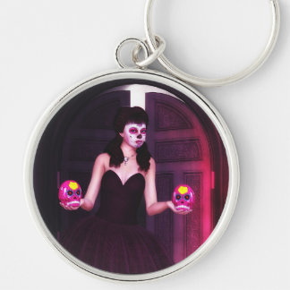 Day of the Dead Sugar Skull Keychain