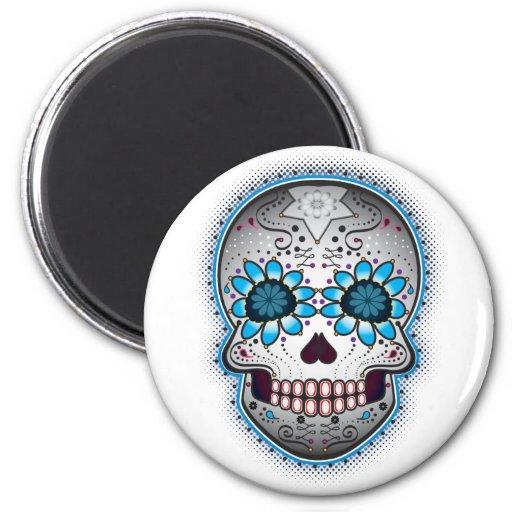 Day Of The Dead Sugar Skull Fridge Magnets