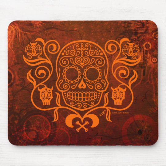 Day of the Dead Sugar Skull Mouse Mat