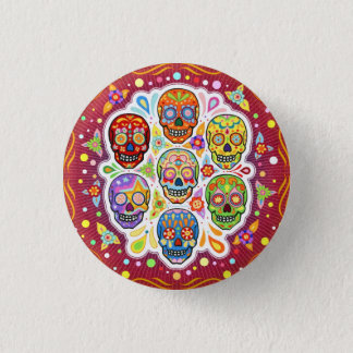 Day of the Dead Sugar Skull Pin