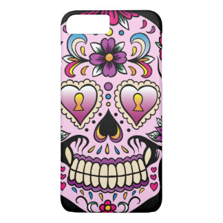Day of the Dead Sugar Skull Pink iPhone 8 Plus/7 Plus Case