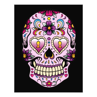 Day of the Dead Sugar Skull Pink Photo Print