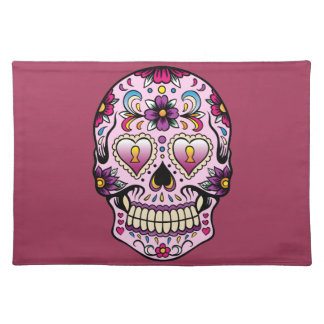 Day of the Dead Sugar Skull Pink Placemat
