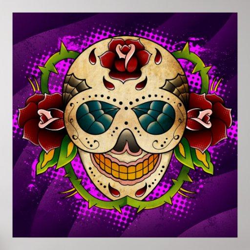 Day Of The Dead Sugar Skull Poster