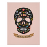 Day of the Dead Sugar Skull poster - black-pink
