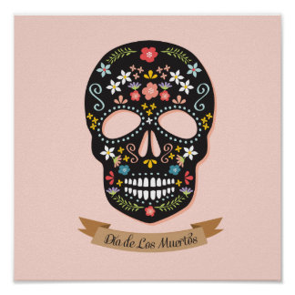 Day of the Dead Sugar Skull poster - square