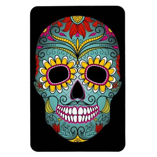 Day of the Dead Sugar Skull Vinyl Magnets