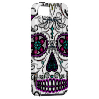 Day of the Dead Sugar Skull - Swirly Multi Color iPhone 5 Cases