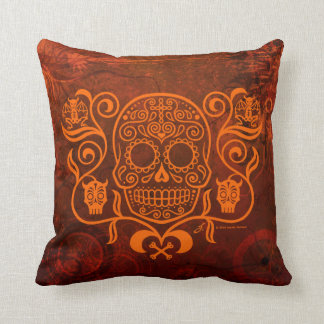 Day of the Dead Sugar Skull Throw Pillow