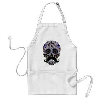 Day of the Dead Sugar Skull w/Moustache Standard Apron
