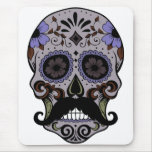 Day of the Dead Sugar Skull w/Moustache Mousemats